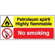 Multiple safety sign - Petroleum Spirit 033